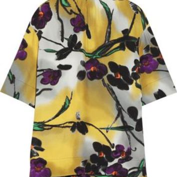 Floral-print crepe top | MARNI | Sale up to 70% off | THE OUTNET