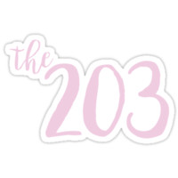 '203' Sticker by caro111111