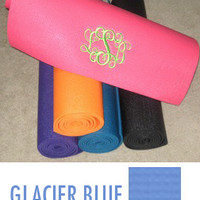 Monogrammed Yoga Mat - Deluxe Extra Thick
