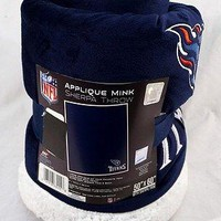 Tennessee Titans NFL 50x60 Velour Embroidered Sherpa Throw Blanket