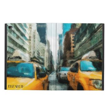 Yellow Taxi Cabs After Rain In New York City Powis iPad Air 2 Case