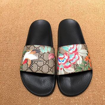 Gucci Fashion Casual Print Sandal Slipper Shoes For Women-1