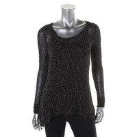 Eileen Fisher Womens Knit Ballet Neck Tunic Sweater
