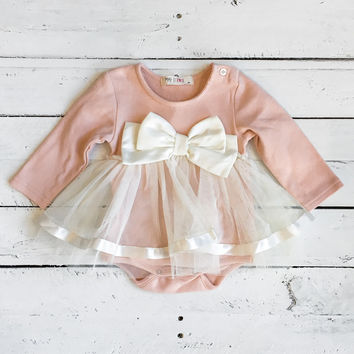 Little Ballerina Onesuit - Blush