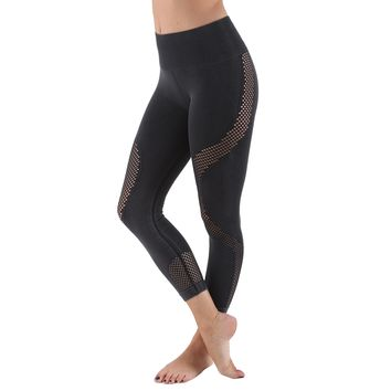 Women's Active Compression Leggings - Black Fade