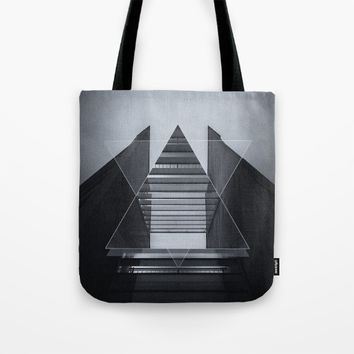 The Hotel (experimental futuristic architecture photo art in modern black & white) Tote Bag by Badbugs_art