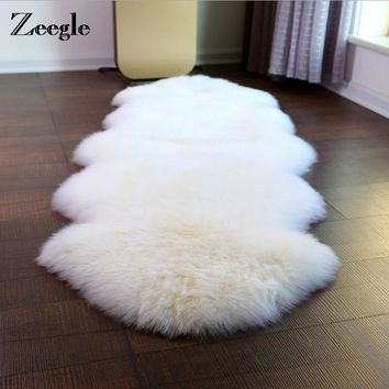 Zeegle Shaggy Faux Sheepskin Carpet For Living Room Chair Sofa Soft Cover Mat Home Decoration Nap Blanket Fur Fluffy Area Rugs