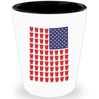 Beer Pong Drinking Game Shot Glass