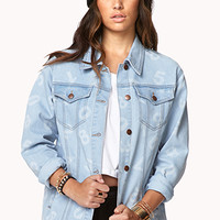 Relaxed Numerical Denim Jacket | FOREVER 21 - 2000092046