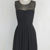 Jack by BB Dakota LBD Mid-length Sleeveless A-line Night and Sway Dress in Noir