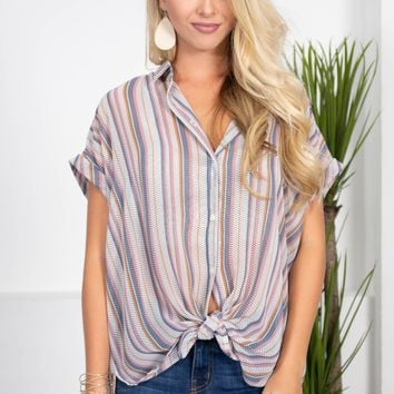 Sheffield Sheer Stripe Top