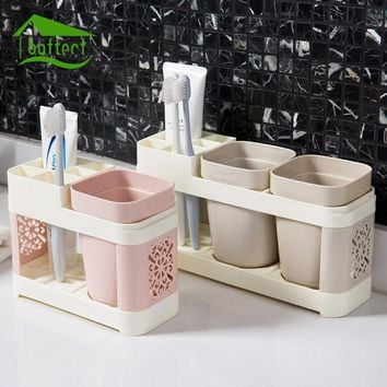 New Bathroom Toothbrush Cup Toothpaste Toothbrush Holder Suits Bath Set Creative Wash Cup Brush Cup Family Bathroom Tools
