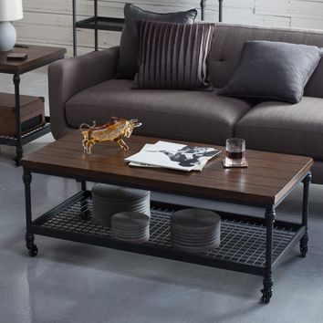 Belham Living Archer Industrial Coffee Table | Hayneedle