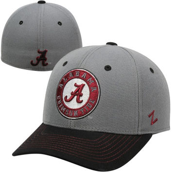 Zephyr Alabama Crimson Tide Sleet Fitted Hat - Gray/Black
