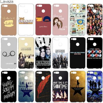 Lavaza Gilmore Girls Law & Order Special Victims Unit Hamilton Case for Xiaomi Redmi Note 5 5a mi5 3s Plus Pro