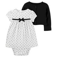 Baby Girls' 2 Piece Dress Set Black Dot 9M - Just One You™Made by Carter's® : Target