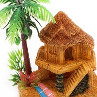 1PC Polyresin Aquariums Fish Tank Ornaments Simulation Coconut Tree Castle Aquarium Ornaments Aquario Aquarium Decoration
