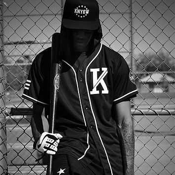 Vintage Fashion Unisex Hip Hop Allover T-Shirt Baseball Jersey New come Peplum tops Black t Shirt Men Clothes