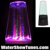 Water Fountain Show Tunes Portable and Rechargeable Speaker works with SD card, USB, iPod, iphone, androids, cellphones, ipods, mp3 players and your computer (BLACK):Amazon:MP3 Players & Accessories