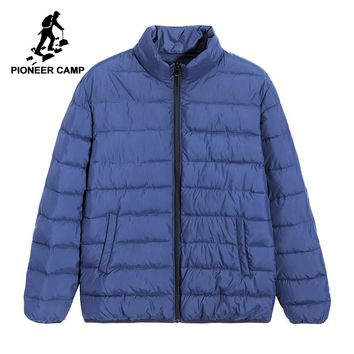 Pioneer camp new puffer winter jacket men brand clothing solid warm parkas stand collar quality coat male AMF801391A
