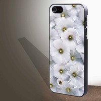 "White Flower for iphone 4/4s/5/5s/5c/6/6+, Samsung S3/S4/S5/S6, iPad 2/3/4/Air/Mini, iPod 4/5, Samsung Note 3/4 Case ""005"""