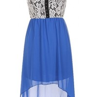 The Strap Lace Blue High Low Dress - 29 N Under