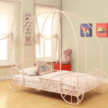 Coaster Fine Furniture Carriage Bed Pink 400155T