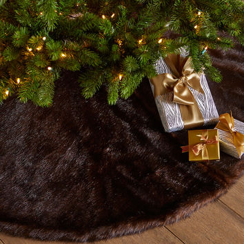 Faux-Sable Christmas Tree Skirt - Neiman Marcus