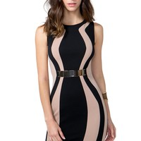 Optic Contour Sheath Dress