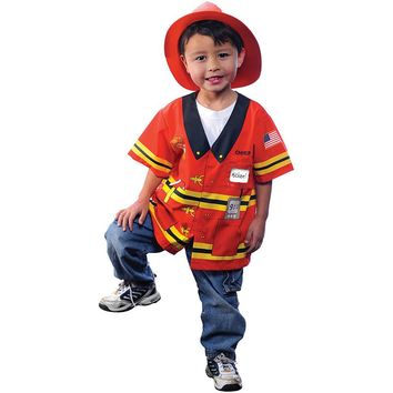 My First Career Gear Firefighter Costume - Toddler (Red)