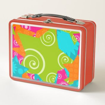 Abstract Vivid Stars Swirls Lunch Box
