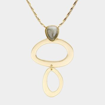 Modern Loop Necklace with Gray Accent - Click for Colors