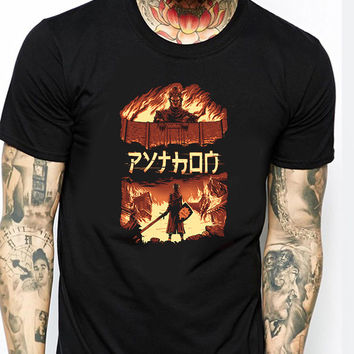 Attack on Titan  Attack on Python Mens T-shirt Black and White