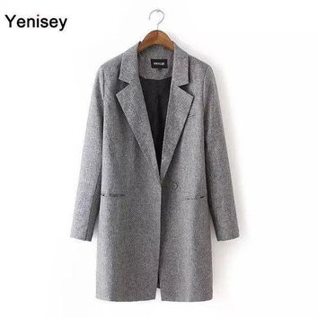 2015 Sale Bleiser Feminino Blazer Feminino Dj 65 And The Wind Are Long Sleeved Slender Slim Lady Lapel Suit Coat Jacket 0810
