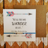 """Lord of the Rings Inspired Friendship Bracelet with Card 