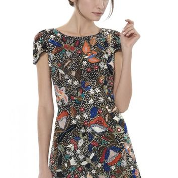 alice + olivia | ELLEN EMBELLISHED DRESS