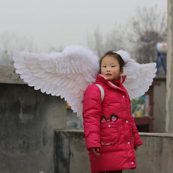 Costume Children White Angel Feather Wings Tweens