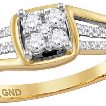 1-4Center Total Weight -Diamond PROMISE RING