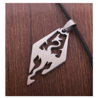 Carved Dragon Pendant Necklace