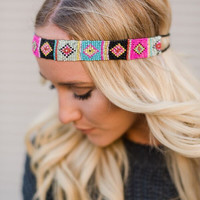 Sun Valley Beaded Headband