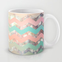 New World Chevron Pastel Mug by Sandra Arduini