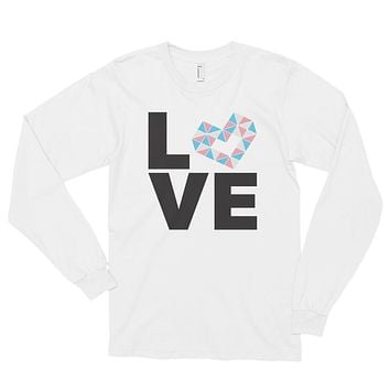 LOVE TRANS Long sleeve t-shirt (unisex)