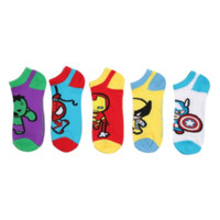 Marvel Universe Heroes Kawaii No-Show Socks