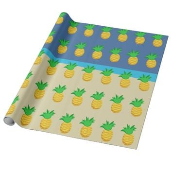 Kids Hawaiian Luau Party Wrapping Paper