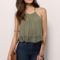Up To Here Gauze Halter Top
