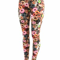 Doughnut Print Leggings