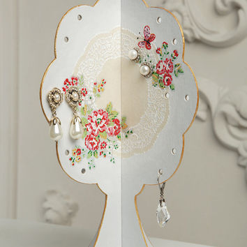 Earring Holder Tree Shabby Chic Style / Deas bouquet