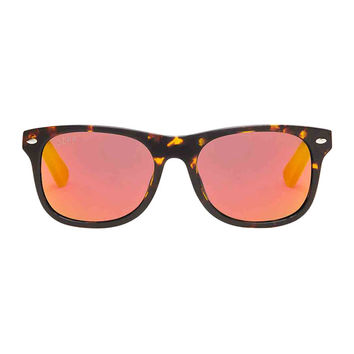 KOTA - TORTOISE FRAME - RED MIRROR POLARIZED LENS