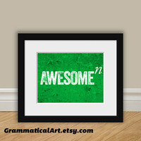 Math / Science Nerdy Print - Awesome to the Nth Degree