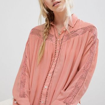 Free People katie bird buttondown shirt at asos.com